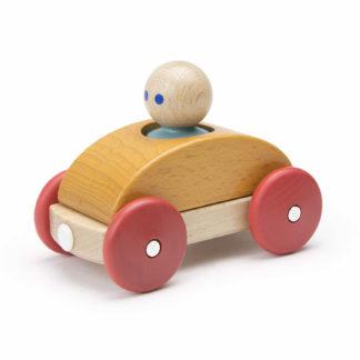 Tegu Holzspielzeug Baby Holzauto orange
