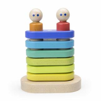 Tegu Holzspielzeug Bauklötze mehrfarbig