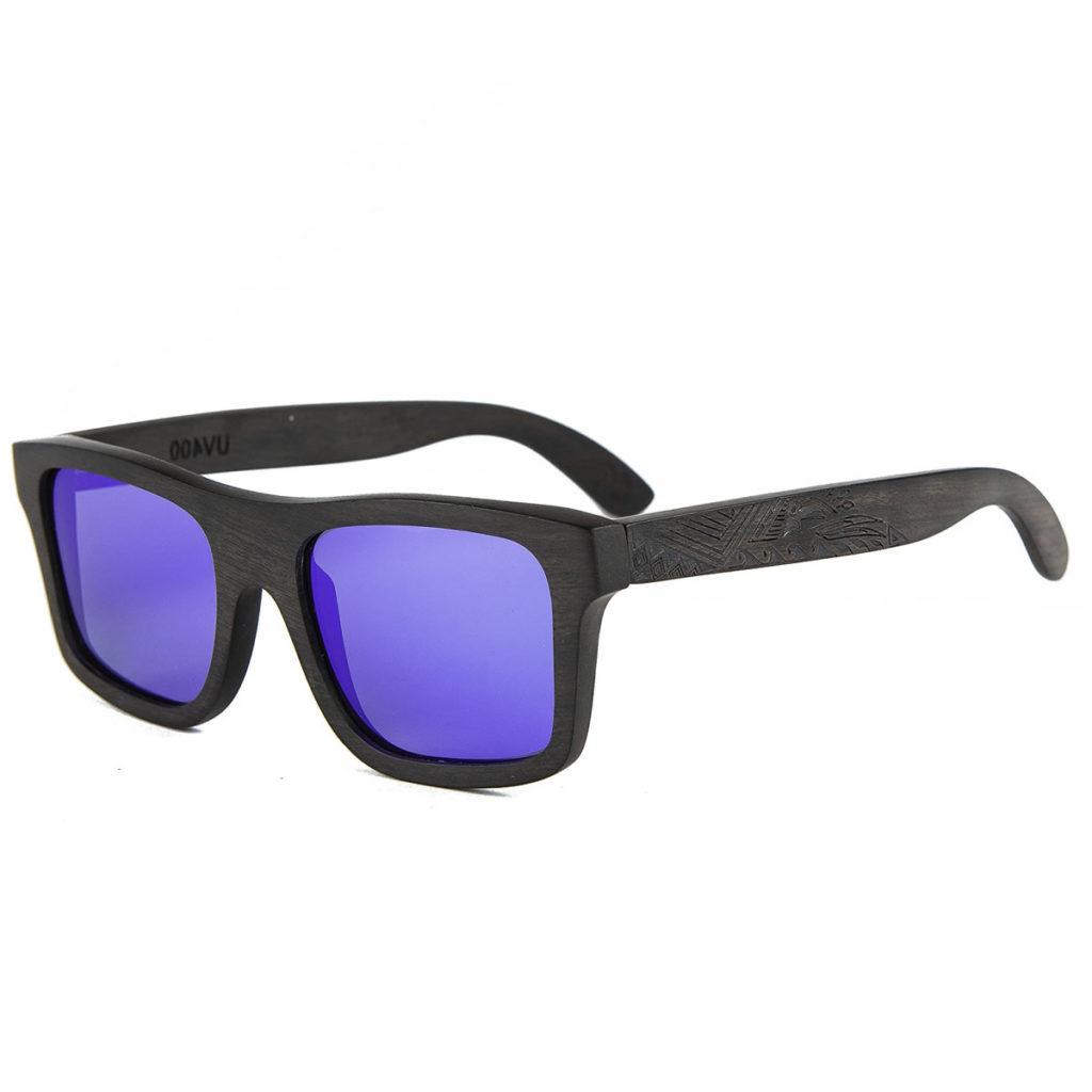 Wicked Design Holz Sonnenbrille Unisex Ebenholz