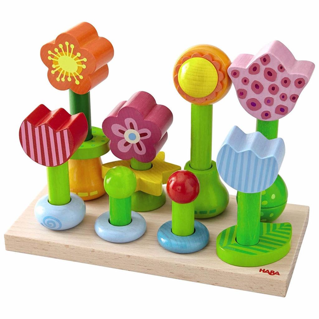 Haba Holzspielzeug Steckspiel Blumengarten