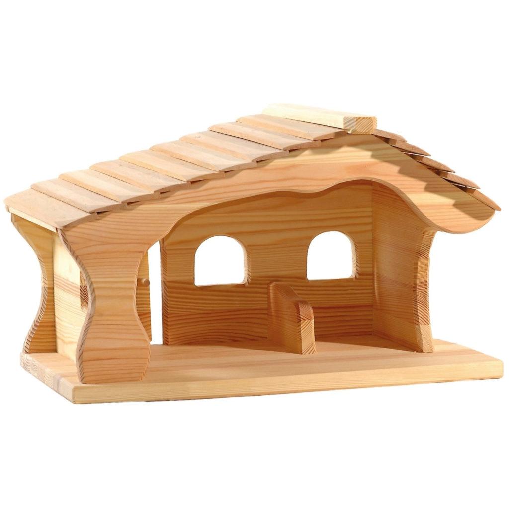 Ostheimer Weihnachtskrippe, Krippenstall aus Holz