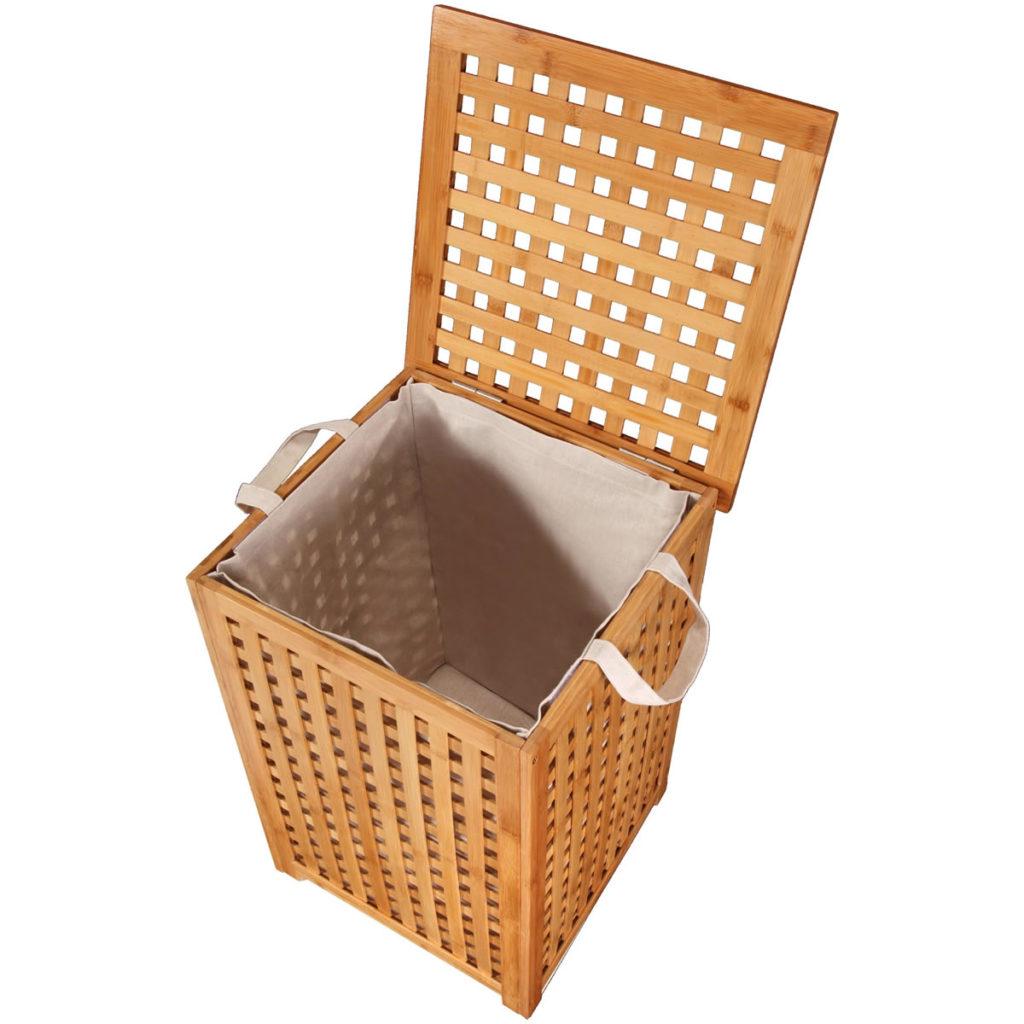 Bambus Wäschekorb Design
