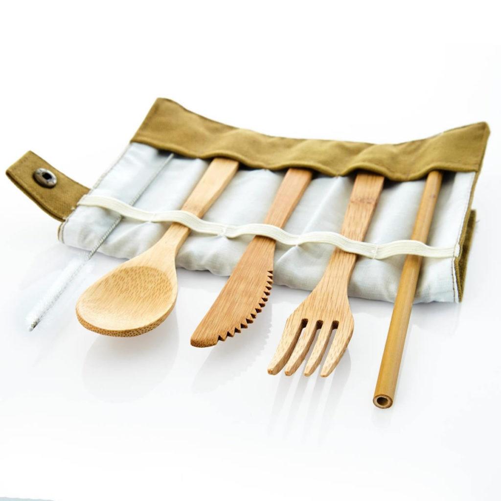 Bambuswald Besteck Set 5-teilig plastikfrei