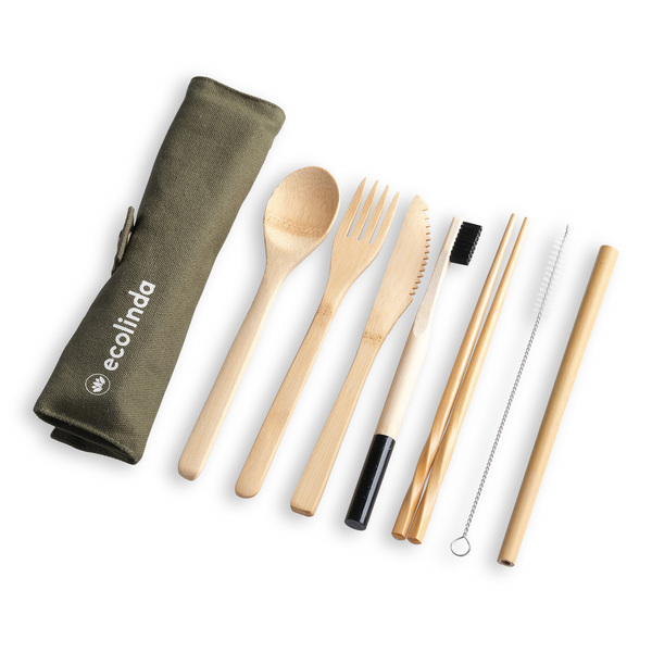 Bambus Besteck Set