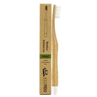 Ecoyou Zahnbürste aus Bambus mittelweich 1 Stück