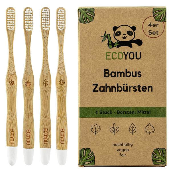 EcoYou Zahnbürste aus Bambus mittelweich