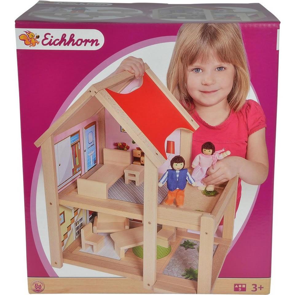 Eichhorn Puppenhaus aus Holz