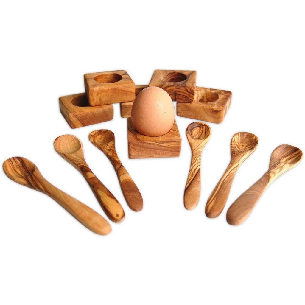 Eierbecher Holz Set