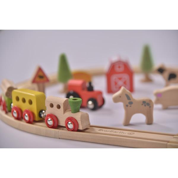 Everearth Eisenbahn Bauernhof Set