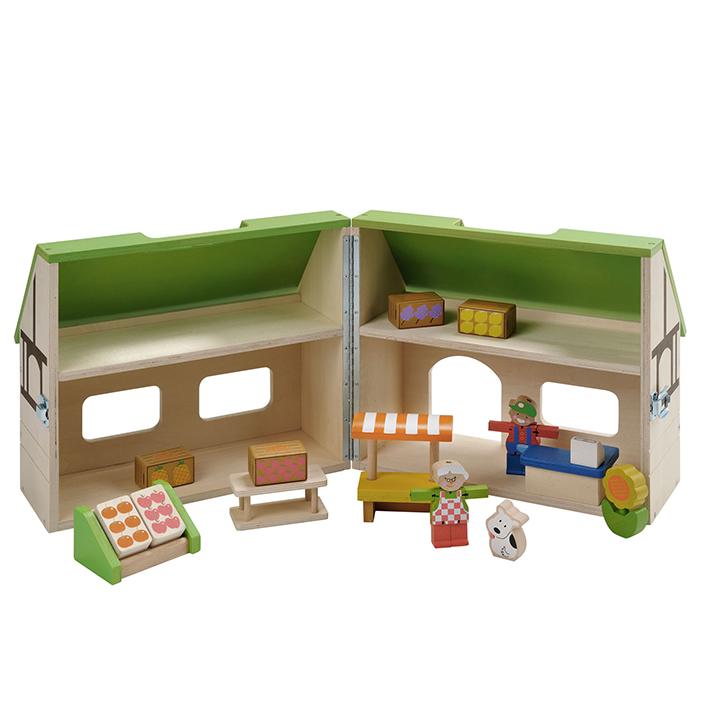 Puppenhaus Bio Laden offen
