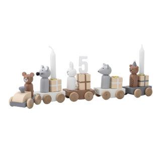 Geburtstagszug aus Holz
