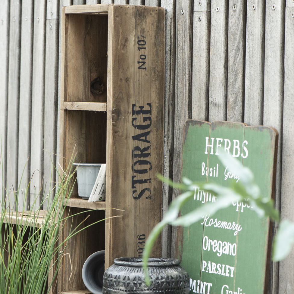 Holz Kiste im Vintage Style