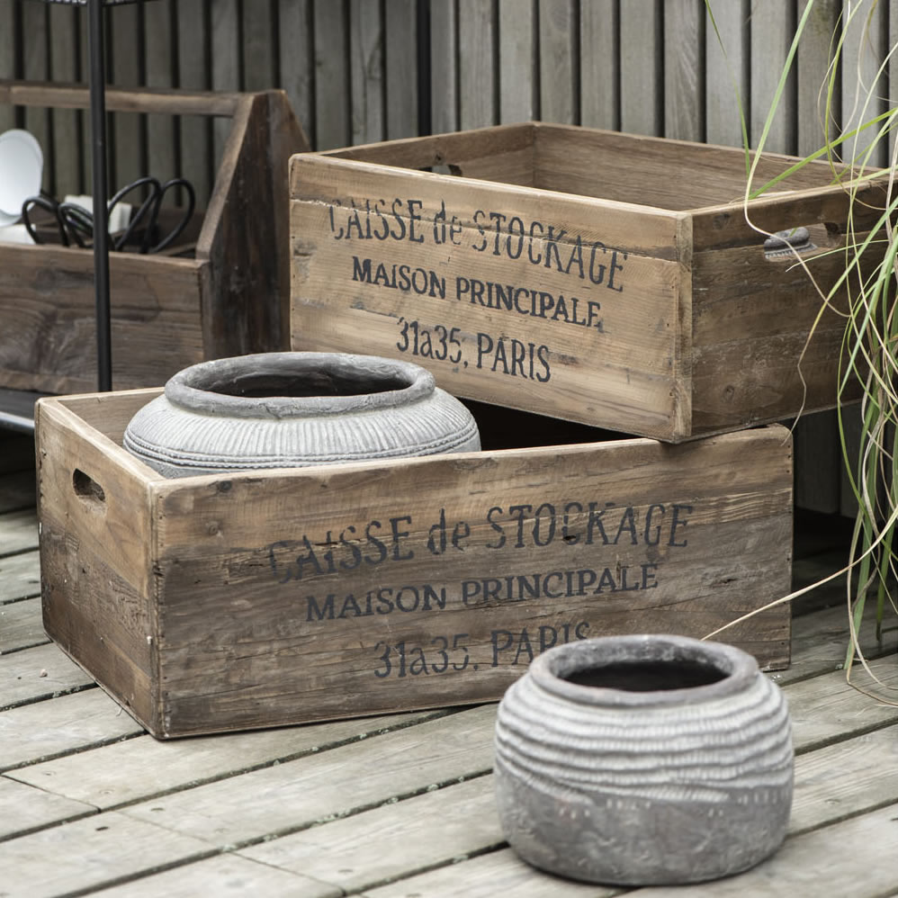Holz Kisten Recyclingholz