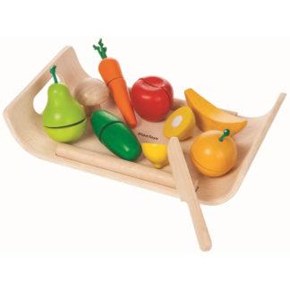 Holz Obst Gemüse schneiden