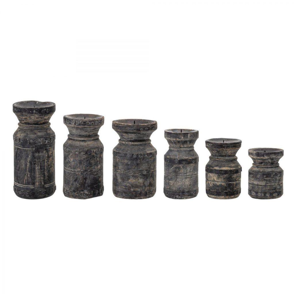 Kerzenhalter aus Holz 6er Set