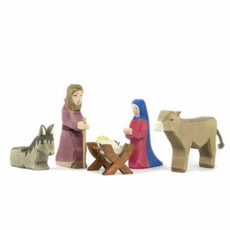 Krippenfiguren Heilige Familie aus Holz