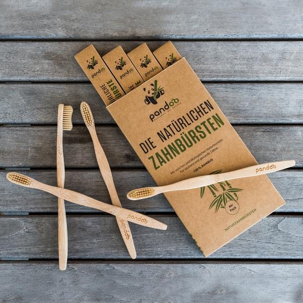 Pandoo Bambus Zahnbürsten