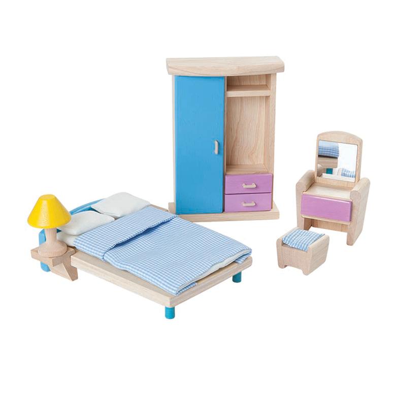 Plantoys Puppenhausmöbel Schlafzimmer