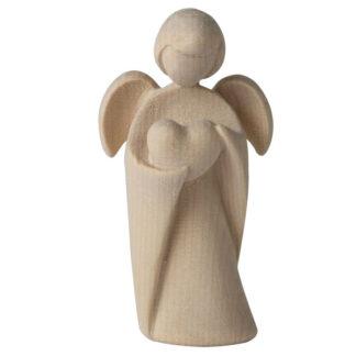 Schutzengel aus Zirbenholz Herz