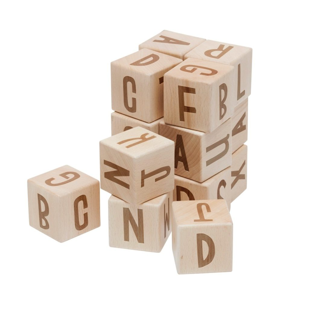 Sebra Stapelwuerfel Buchstaben
