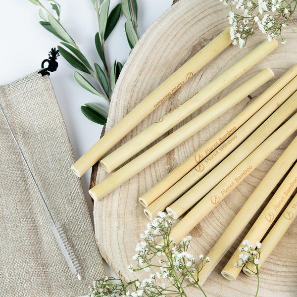 Strohalme aus Bambus