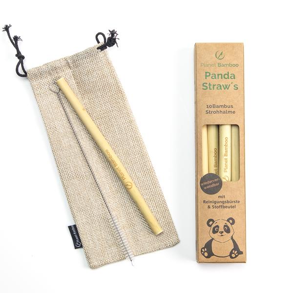 Bambus Strohalme