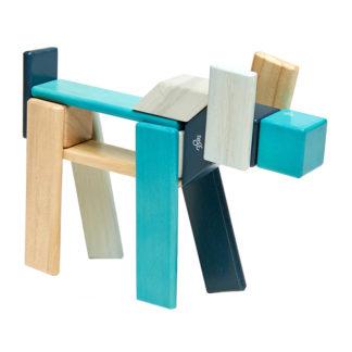 Tegu Magnetbausteine Block 24 Blau