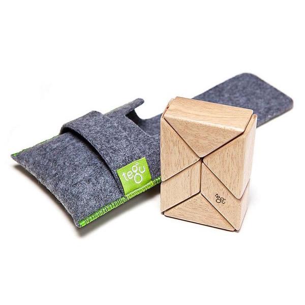 Tegu Taschen Magnetbausteine Natur