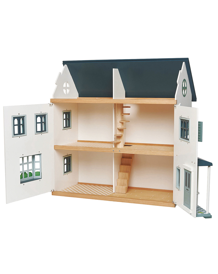 Tetnder Leaf Toys Puppenhaus offen