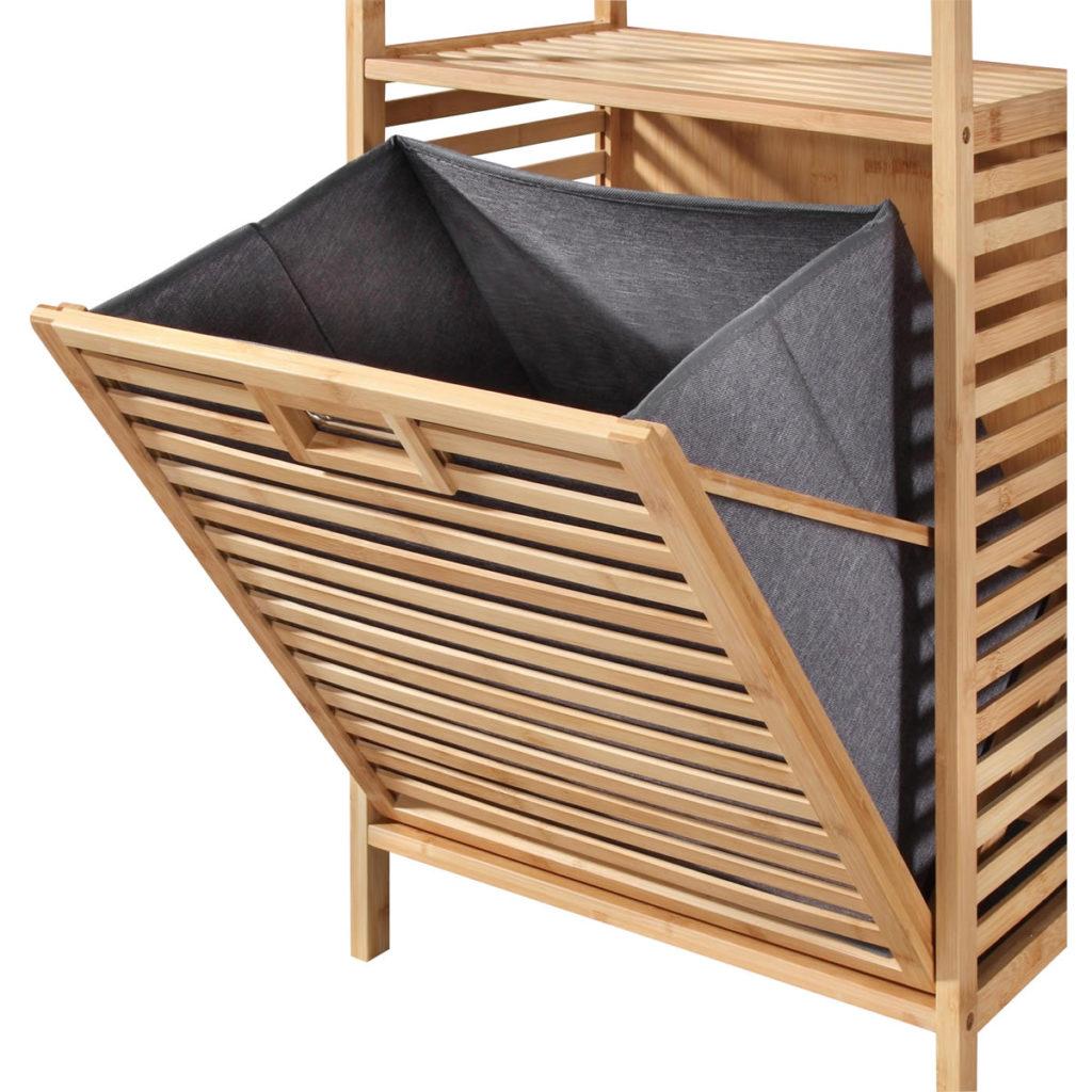 Wäschetruhe Bambus Aufbewahrungkorb