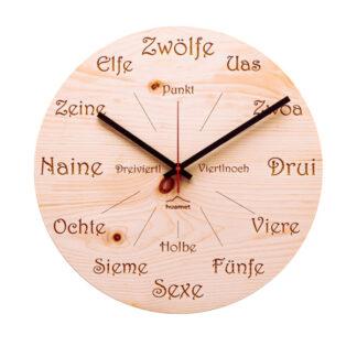 Wanduhr Zirbe Uhrform