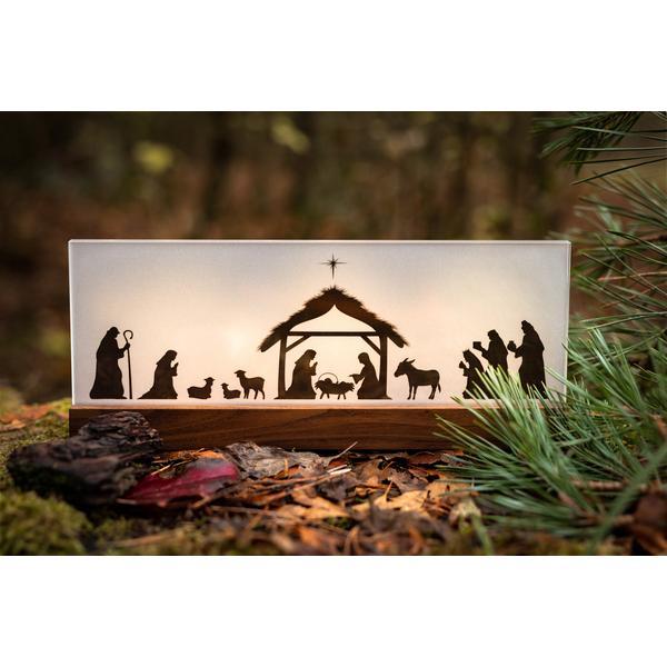 Weihnachtskrippe Bethlehem Nussbaum