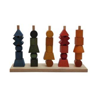 Wooden Story Steckspielzeug Bunt