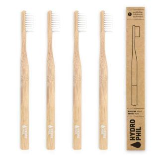 Zahnbürste sus Bambus Mittelweich 4 Stück Natur