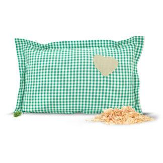 Zirbelino Zirbenkissen Baumwolle Grün